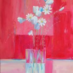 Bouquet fond rose 50x70