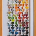 Coeurs couleurs 1 20x50