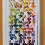 Coeurs couleurs 2 20x50