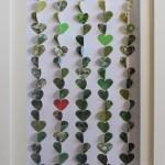 Coeurs vert 20x50