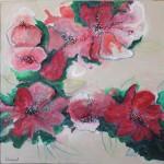 Nuage de fleurs 60x60
